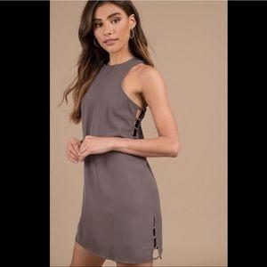 Tobi Brown Swing Dress with Cutouts